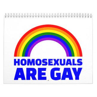 Los homosexuales son gay calendarios