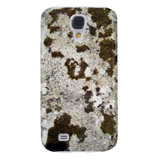 Los hongos texturizan en roca de la montaña funda para galaxy s4