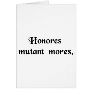 Los honores cambian las aduanas tarjeta de felicitación