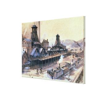Los hoyos de St Pierre y de San Pablo en Le Creuso Lona Envuelta Para Galerias