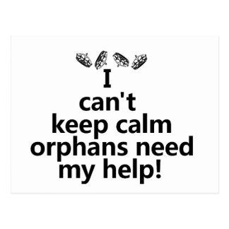Los huérfanos necesitan mi ayuda tarjeta postal