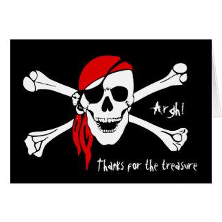 Los huesos del cráneo y de la cruz le agradecen tarjeta pequeña