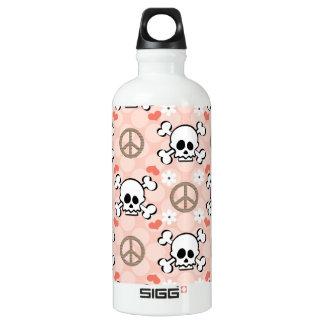 Los huesos rosados BPA del cráneo y de la cruz