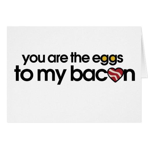 Los huevos a mi tocino tarjeta
