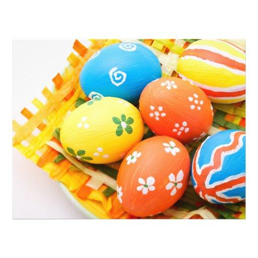 Los huevos de Pascua coloridos Tarjetas Informativas