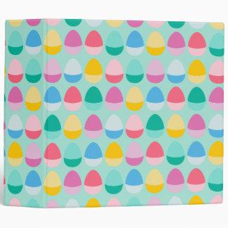 Los huevos de Pascua en colores pastel Carpeta 5 Cm