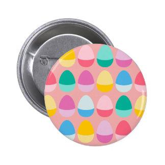 Los huevos de Pascua en colores pastel Chapa Redonda 5 Cm