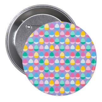 Los huevos de Pascua en colores pastel Pin Redondo De 3 Pulgadas
