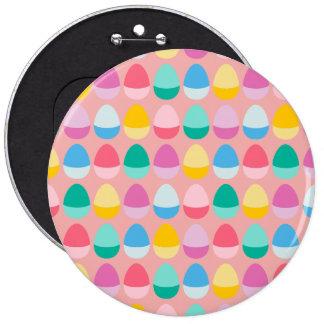 Los huevos de Pascua en colores pastel Pin Redondo De 6 Pulgadas