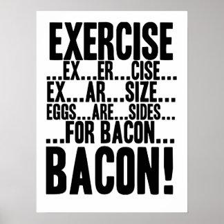 ¡Los huevos del ejercicio… son lados… para el TOCI Póster