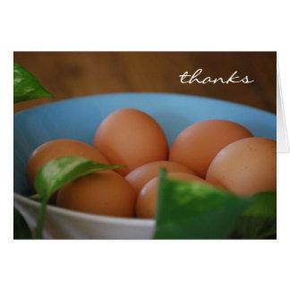 Los huevos del país le agradecen cardar tarjeta de felicitación