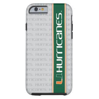 Los huracanes de U - verde y naranja Funda Para iPhone 6 Tough