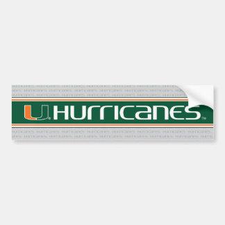 Los huracanes de U - verde y naranja Pegatina Para Auto