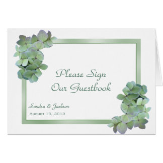 Los Hydrangeas verdes firman nuestra tarjeta Tarjeta Pequeña