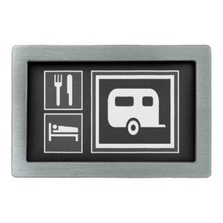 Los iconos de la señal de tráfico - COMA acampar d Hebilla Cinturon Rectangular