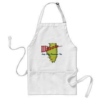 Los idiotas del ~ del lema de Illinois IL solament Delantales