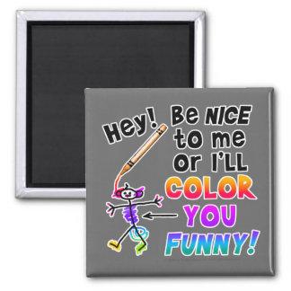 Los imanes - coloréele divertido