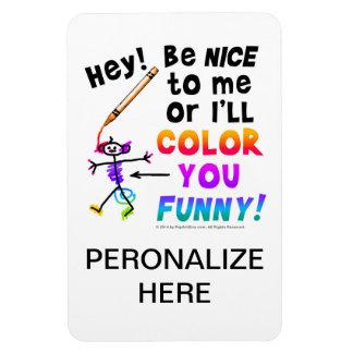 Los imanes de la foto - coloréele divertido