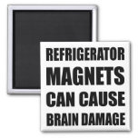 Los imanes del refrigerador pueden stropear daño c iman de nevera