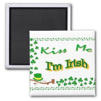 Los imanes me besan que soy irlandés imán cuadrado