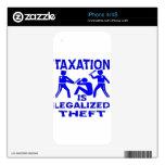 Los impuestos son hurto legalizado calcomanías para iPhone 4S
