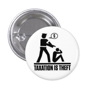 Los impuestos son perno del hurto pin redondo de 1 pulgada