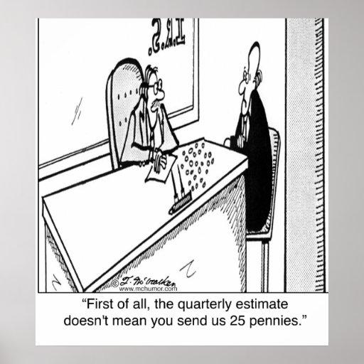Los impuestos trimestrales no significan 25¢ posters