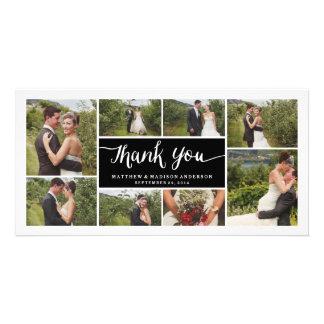 Los | indicados con letras que se casan le tarjeta fotografica personalizada
