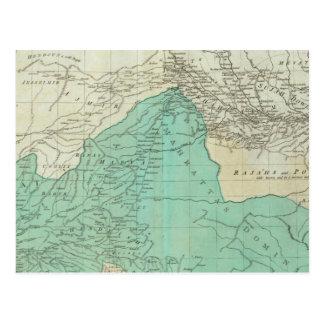 Los indies del este, con la sección septentrional  tarjeta postal