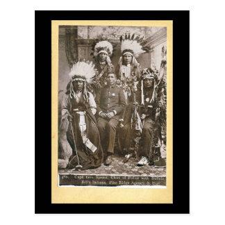 Los indios 1890 de Buffalo Bill Postal