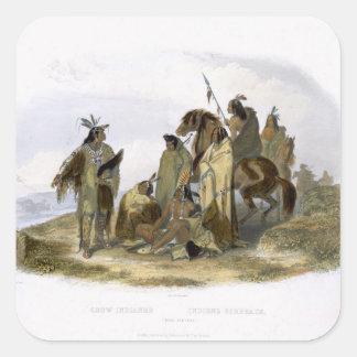 Los indios del cuervo, platean 13 del volumen 1 de calcomania cuadradas personalizada