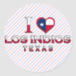 Los Indios, Texas Classic Round Sticker