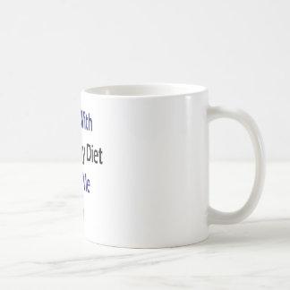 Los individuos con una dieta sana me giran taza de café