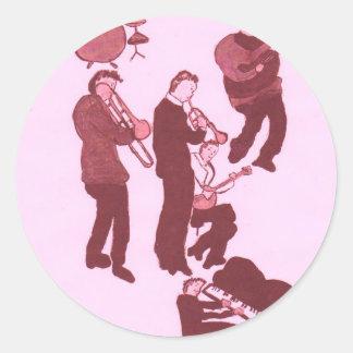 los individuos de la música terminan pegatina redonda