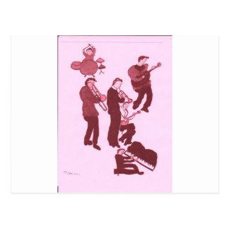 los individuos de la música terminan tarjetas postales