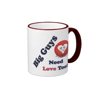 ¡Los individuos grandes necesitan amor también! Taza De Dos Colores