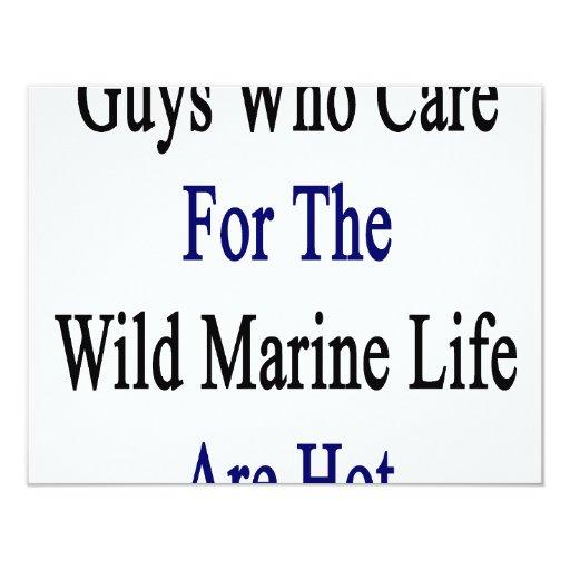 """Los individuos que cuidan para la vida marina invitación 4.25"""" x 5.5"""""""