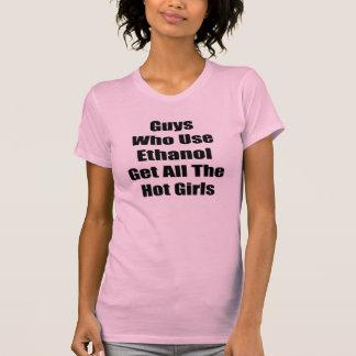 Los individuos que utilizan el etanol consiguen a  camisetas