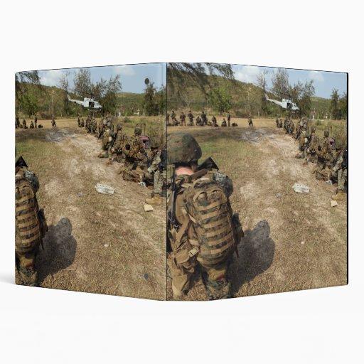 """Los infantes de marina de los E.E.U.U. Carpeta 1 1/2"""""""