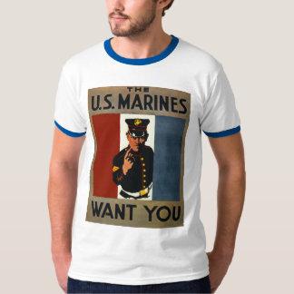 Los infantes de marina de los E.E.U.U. le quieren Playera