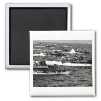 Los infantes de marina de WWII LOS E.E.U.U. invade Imanes Para Frigoríficos