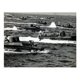 Los infantes de marina de WWII LOS E.E.U.U. Tarjeta Postal