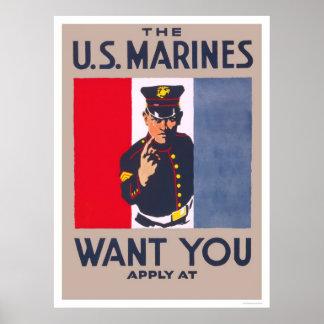 Los infantes de marina le quieren impresiones