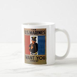 Los infantes de marina le quieren taza de café