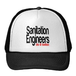 Los ingenieros de saneamiento mejora gorra