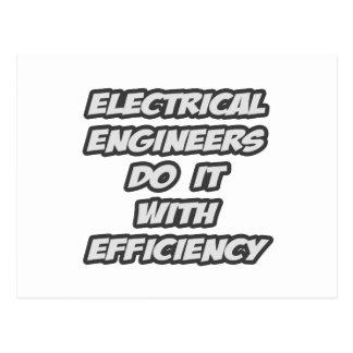 Los ingenieros eléctricos lo hacen con eficacia tarjetas postales