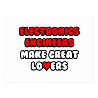 Los ingenieros electrónicos hacen a grandes amante tarjeta postal