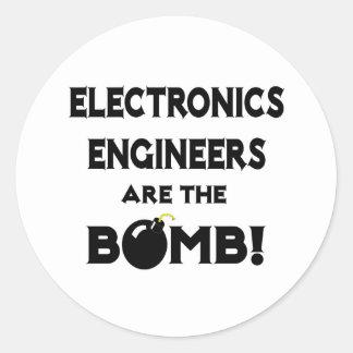 ¡Los ingenieros electrónicos son la bomba Pegatinas