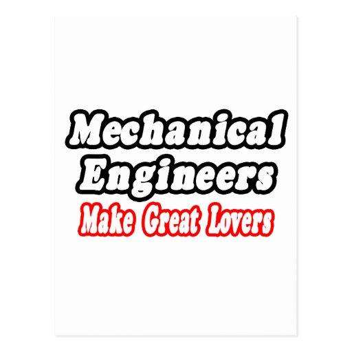 Los ingenieros industriales hacen a grandes amante postales