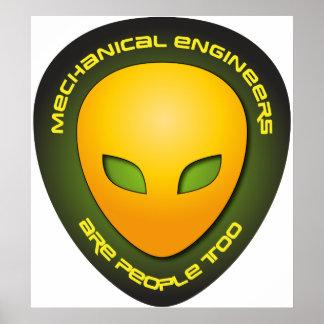 Los ingenieros industriales son gente también póster